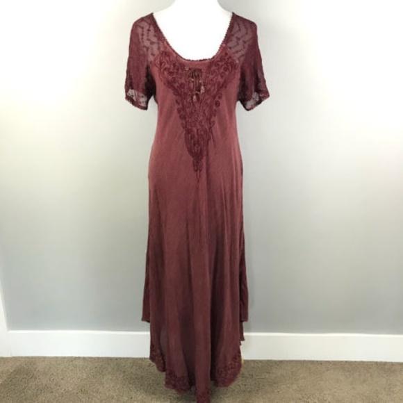 74a8c4e4bd Sakkas Dress Free Size/One Size Embroidered Corset